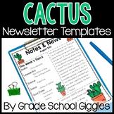 Cactus Newsletter Template Editable