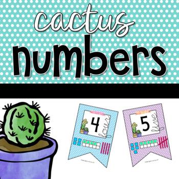 Cactus Number Bunting