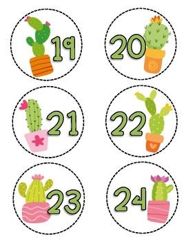 Cactus Number Labels 1-30
