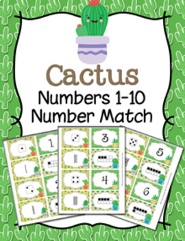Cactus Number Match Activity