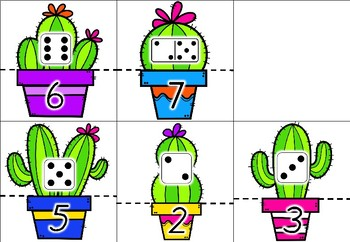 Cactus Number Match Up 1-10
