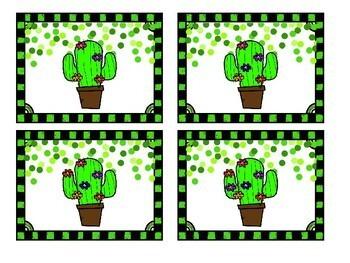 Cactus Number Match Up