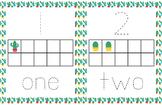 Cactus Playdough Tracing Mats (Numbers 1 to 10)