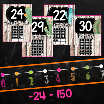 Cactus Number Posters and Number Line
