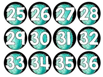 Cactus Numbered Circle Labels