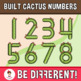 Built Cactus Numbers Clipart