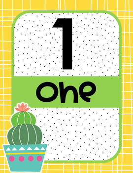 Cactus Numbers Posters & Tens Frame Posters
