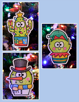 Christmas Cactus Ornaments - A Fun Holiday Craft