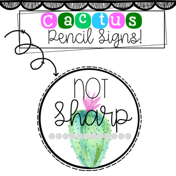 Cactus Pencil Sign Freebie