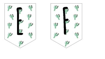 Cactus Pennant Banner Letters