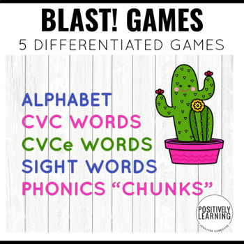 Cactus Games Phonics and Sight Words