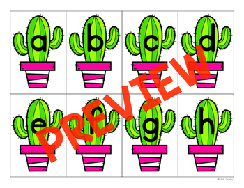 Cactus Pick & Write Uppercase & Lowercase Letters