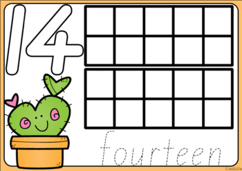 Cactus Playdough Number Mats