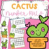 Cactus Playdough Number Mats