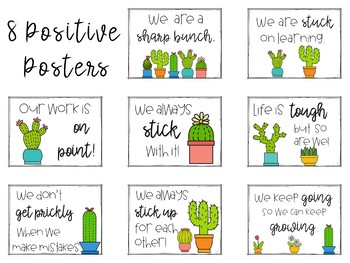 Cactus Posters   Positive Growth Mindset
