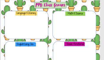 Cactus Preschool Lesson Planner
