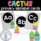 Cactus Primary Alphabet Cards- Classroom Decor