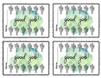 Cactus Punch Cards