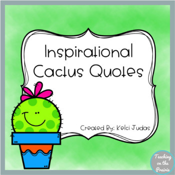 Cactus Quote Posters