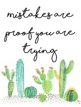 Cactus Quotes Cactus Classroom Quotes by Mrs Bs Brand | Teachers Pay Teachers Cactus Quotes