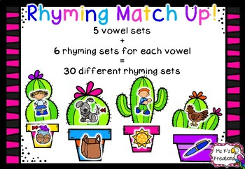 Cactus Rhyming Match Up Game