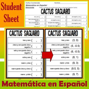 Cactus Saguaro - Matemática en Español