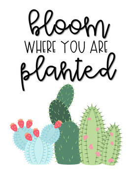 Cactus Saying Printable