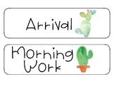 Cactus Schedule Cards