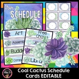 Cactus Schedule Cards EDITABLE