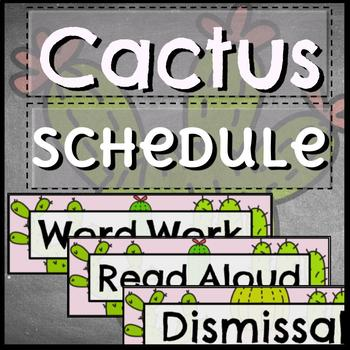 Daily Schedule Cards Editable /// CACTUS Theme