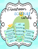 Cactus Schedule Cards for Visual Schedules: EDITABLE