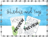 Cactus Schedule and Tags