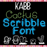 Cactus Scribble Font by KABB
