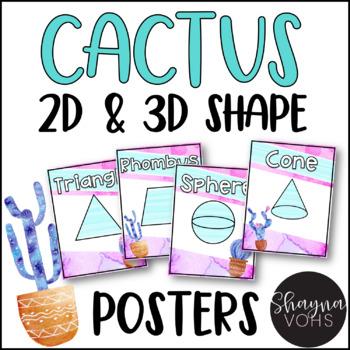 Cactus Shape Posters