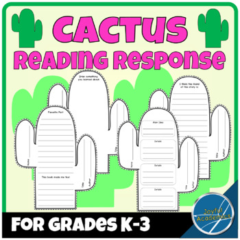 Cactus Shaped Reading Response for Any Book Grades K-3