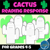 Cactus Shaped Reading Response for Any Book Grades 4 and 5