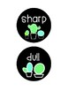 Cactus Sharp & Dull Circle Labels