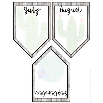Cactus & Shiplap Birthday Banner