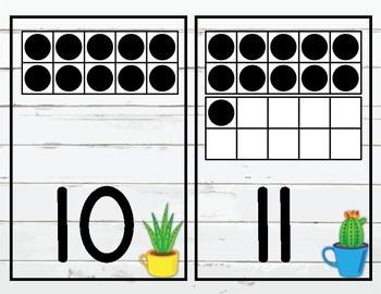 Cactus Shiplap Number Posters