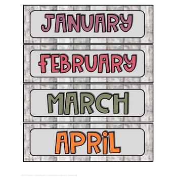 Cactus & Shiplap Calendar