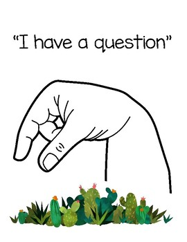 Cactus Sign Language Posters