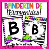 Cactus Spanish Welcome Banner/ Banderín de bienvenidos