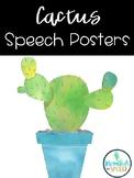 Cactus Speech Posters