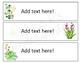 Cactus Sterilite 3 Drawer Labels