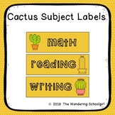 Cactus Subject Labels - Editable