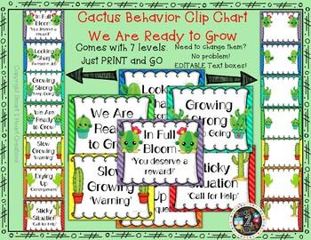 Cactus Succulent Behavior Clip Chart