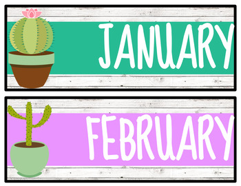 Cactus & Succulent Calendar Pack! - Freebie!