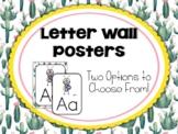 Cactus | Succulent Classroom Decor: Alphabet Word Wall Letters