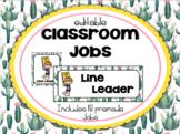 Cactus | Succulent Classroom Decor: Classroom Jobs