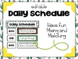 Cactus | Succulent Classroom Decor: Editable Daily Schedule